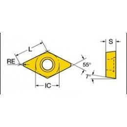 Пластина твердосплавная сменная DCMT 070204-HMP(PC8110)  korloy
